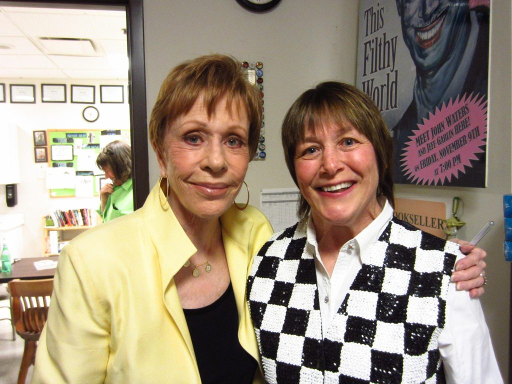 Geri with Carol Burnett