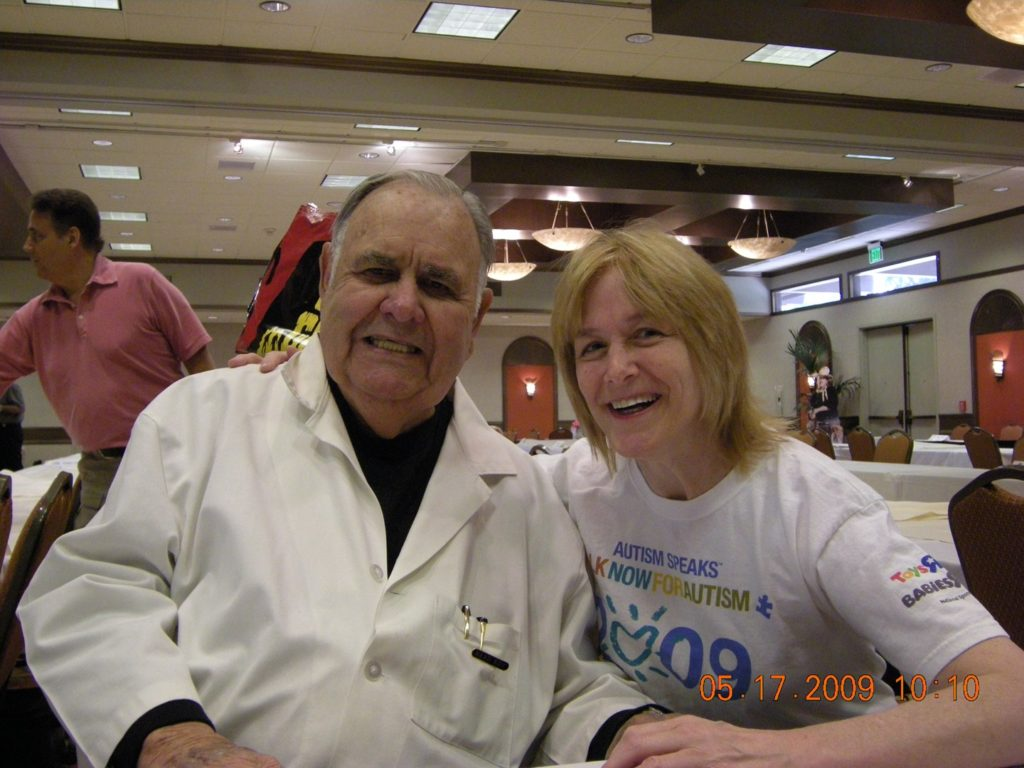 Geri with Jonathan Winters
