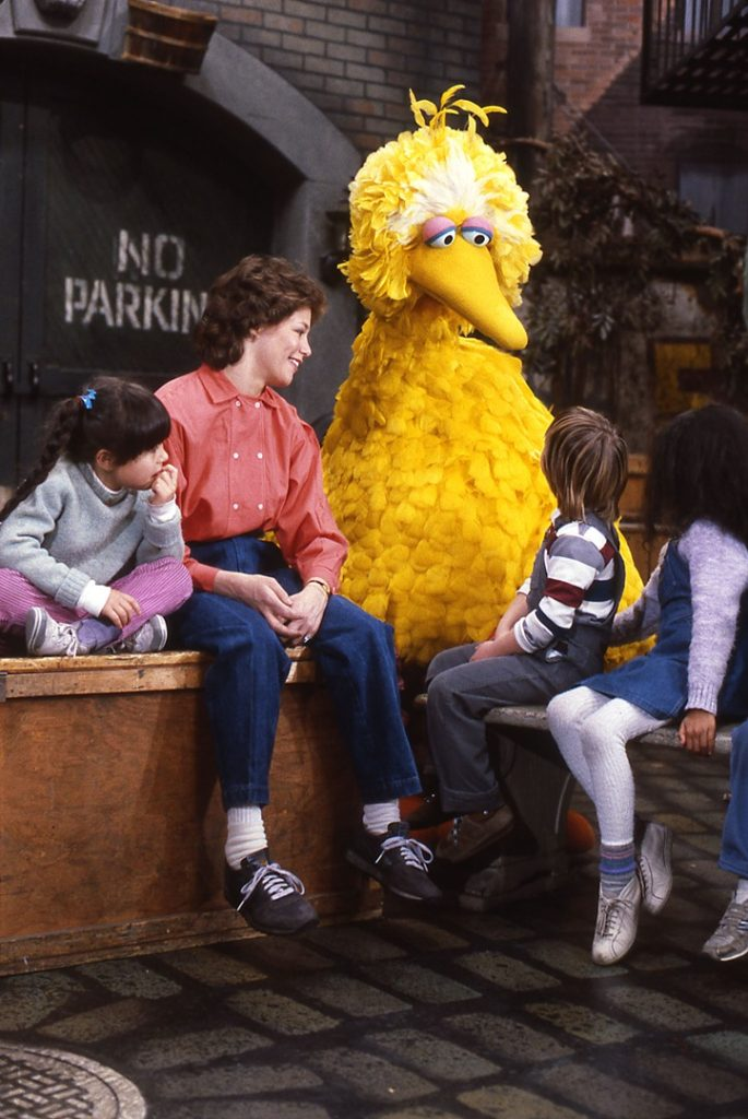 Geri Jewell as the guest on Sesame Street